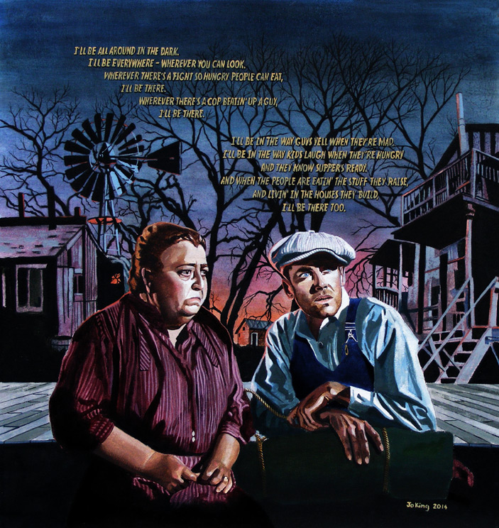 the portrayal of depression in the 1930s in the grapes of wrath by john steinbeck The grapes of wrath john steinbeck and severe drought of the 1930s, the grapes of wrath caused an uproar portrayal of ma joad in john steinbeck's.